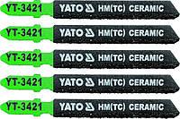 Набор пилочек для лобзика по керамике Yato YT-3421 (5 шт.)