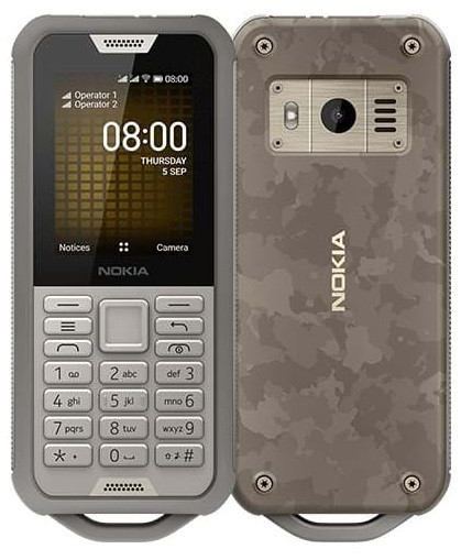 Nokia 800 Tough Dual Sim Desert Sand