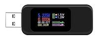 USB Вольтметр/амперметр тестер 10в1 зарядных устройств с цветным ЖК