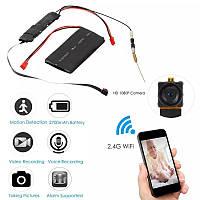 DIY Міні Wifi 1080P відеокамера P2P li-ion Виявлення руху 2.4Ghz SD TF USB запис на карту, керування з смарту, фото 1