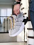 Чоловічі кросівки Nike Air Force 270 (сіро-білі), фото 2