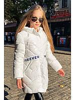 Зимнее пальто Freever для девочек синее и белое, фото 1