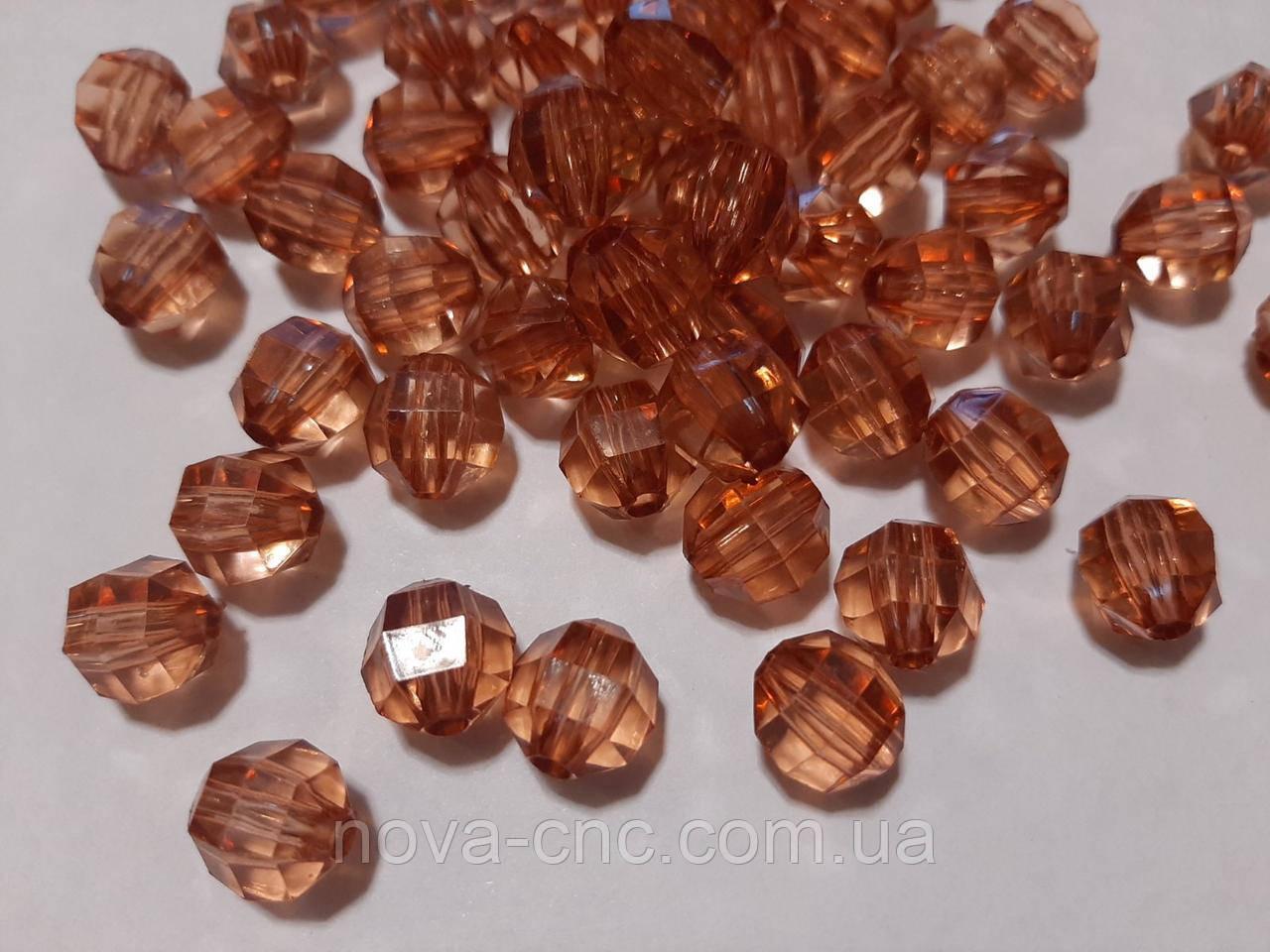 """Бусины акрил """"Гранатик"""" коричневый 12 мм 500 грамм"""