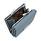 Женский Кошелек Бумажник Маленький на Кнопке для Карточек Weichen (B7561-31) Голубой, фото 8