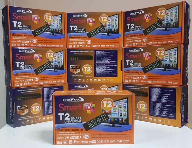 Тюнер ресивер декодер Приставка Т2 OpenFox T2 SMART UNIVERSAL DVB-T/T2
