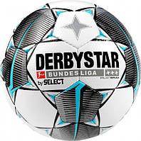 Мяч футбольный Select Derbystar MB BL Brillant Replica (147) №5 White-Black-Turquoise (4030793088677)