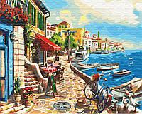 Картина по номерам Приморский городок (40 х 50 см), BrushMe (GX30537)
