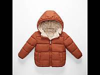 Куртка детская демисезонная коричневая на меху