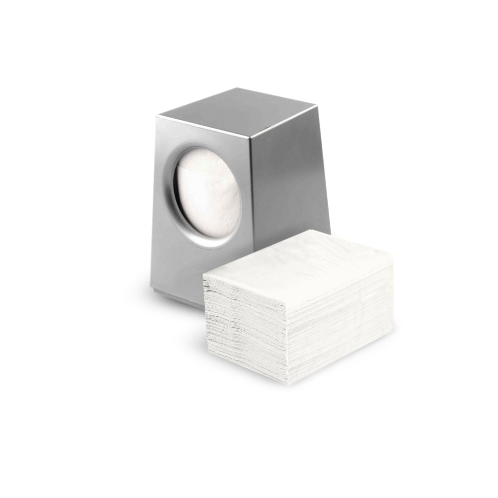 Диспенсер для салфеток настольный серый  Selpak Professional квадратный бокс пластиковый