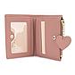 Женский Кошелек Бумажник Маленький на Кнопке для Карточек Weichen (7599-58) Розовый, фото 5