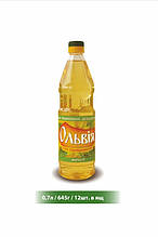 """Масло подсолнечное рафинированное 0.7л """"Ольвия"""""""
