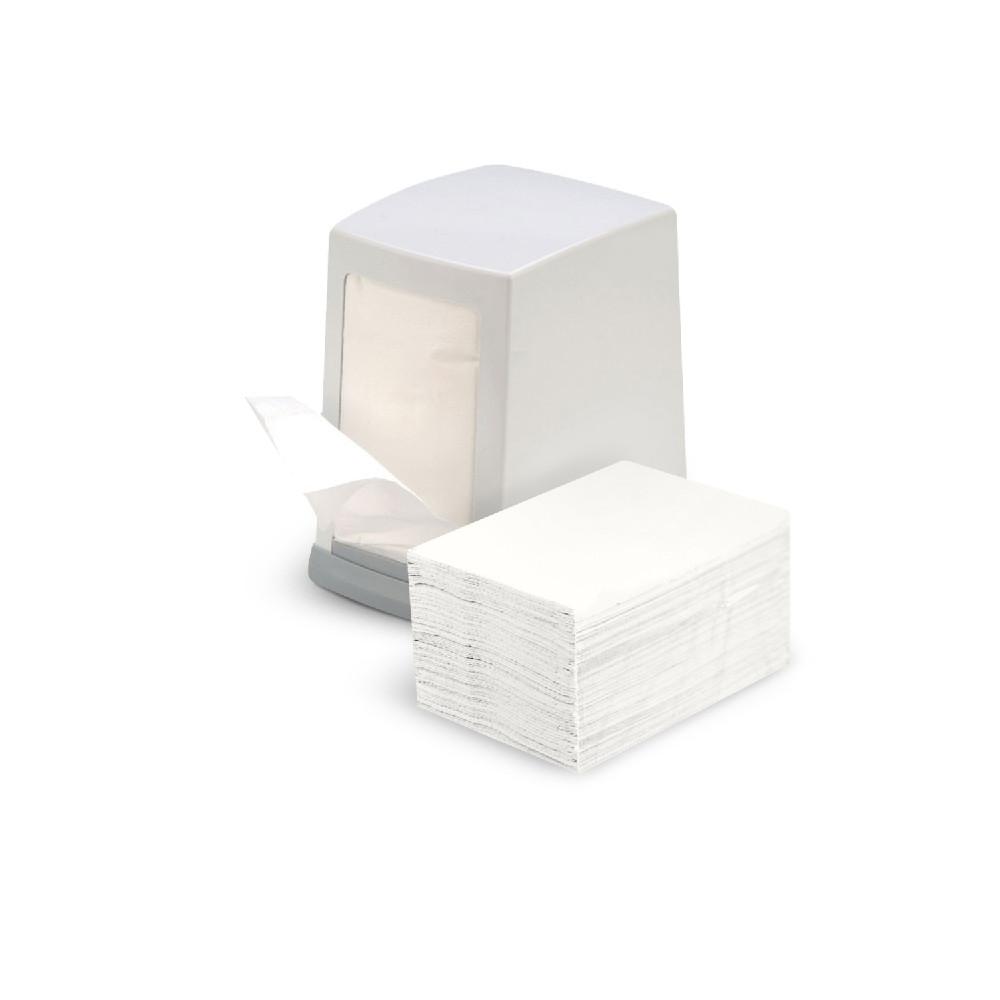 Держатель для диспенсерных салфеток белый пластиковый настольный для сменных картриджей BP-80 белый
