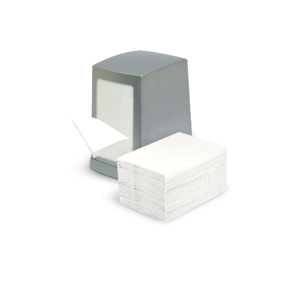 Диспенсеры для салфеток бумажных серый матовый сатин квадратный Настольный держатель из пластика