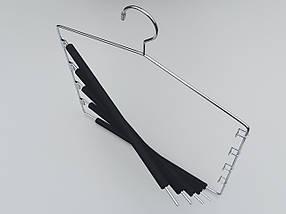 Плечики вешалки тремпеля для брюк металлические в поролоновом покрытии лестница 5-ти ярусная, длина 40 см, фото 3