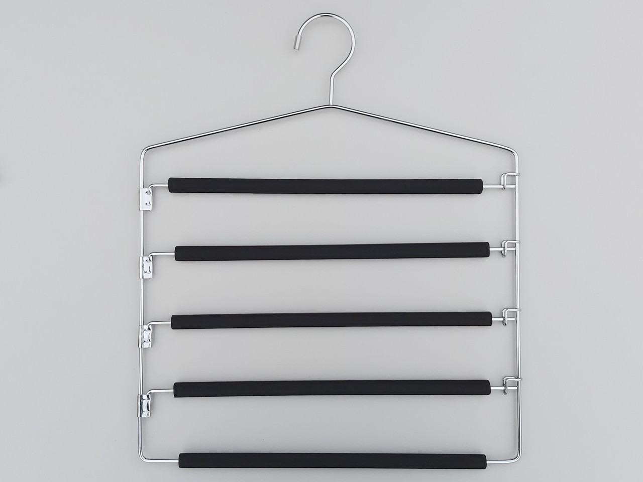 Плічка вішалки тремпеля для штанів металеві в поролоновом покритті сходи 5-ти ярусна, довжина 40 см