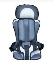 Бескаркасное автокресло детское в машину Child Car Seat Серый