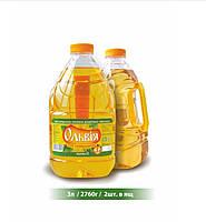 Масло подсолнечное рафинированное Ольвия 3л
