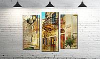 Модульная картина абстракция балкон