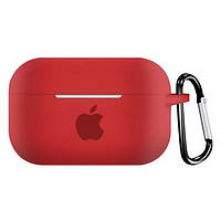 Чехол для AirPods PRO silicone case with Apple Red