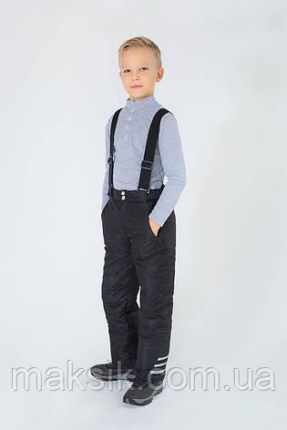 Зимние брюки на бретелях р.110-134, фото 2