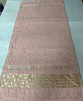 Полотенце махровое 33*70 ВИП КОТТОН розовый