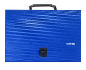 Портфель пластиковий А4 на застібці, 1 відділення, синій