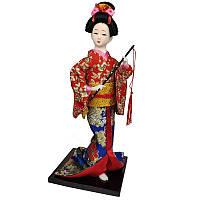 "Кукла японская ""Японка с флейтой"" 30 см. красная (C1045)"