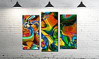 Модульная картина абстракция палитра цветов