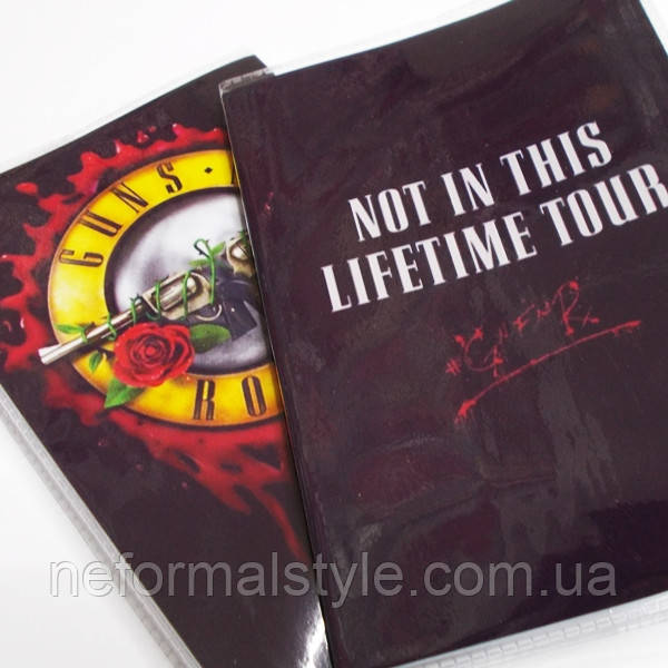 """Обложка ПВХ на паспорт """"Guns and Roses Not in this lifetime tour"""""""