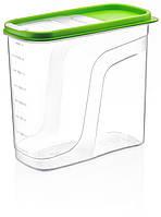 Лоток (контейнер) для крупы пластиковый Poly Time, прозрачный 1.25 л - 6 л