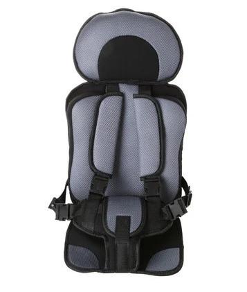Безкаркасне дитяче автокрісло в машину Child Car Seat Сірий/чорний