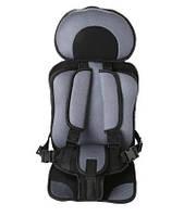 Бескаркасное автокресло детское в машину Child Car Seat Серый/черный
