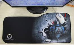 """Игровая поверхность с принтом """"Боец 76"""". Большой коврик 73*33 см для мыши"""