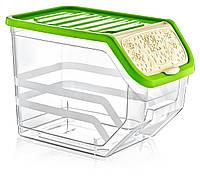 Лоток (контейнер) для крупы пластиковый Poly Time, прозрачный 11 л