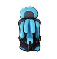 Бескаркасное автокресло детское в машину Child Car Seat Голубой