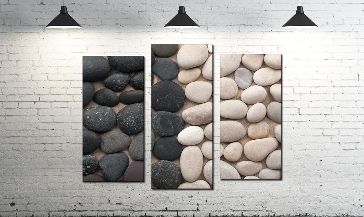 Модульная картина абстракция Инь и Янь из камней