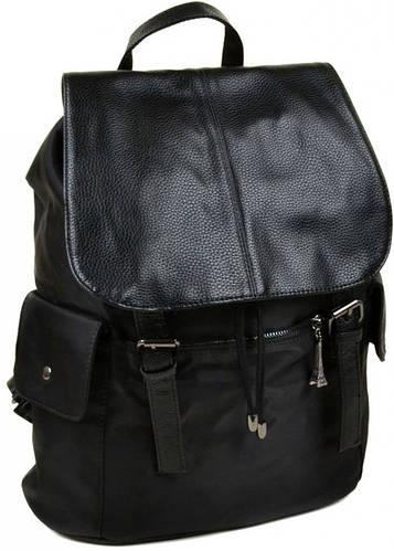 Классический рюкзак из искусственной кожи нейлон 2642 black, черный
