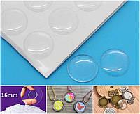 (36шт, лист) Прозрачные круглые эпоксидные наклейки Ø16мм Цена за лист