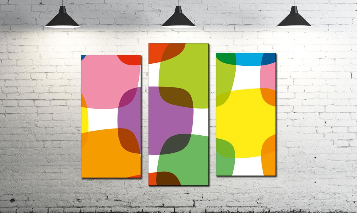 Модульная картина абстракция цветные квадраты