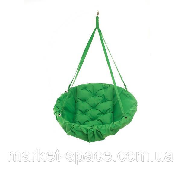 Подвесная детская качеля-гамак: 200 кг 96 см. Цвет: ЗЕЛЁНЫЙ (травяной). Модель: №17