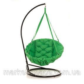 Подвесная детская качеля-гамак: 200 кг 96 см. Цвет: ЗЕЛЁНЫЙ (травяной). Модель: №17, фото 2