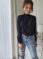 У25150 Стильная женская блуза (черный, белый, красный, кофе, электрик)