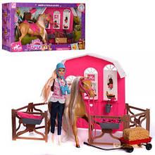 Кукла K899-53 - конюшня, лошадь, аксессуары