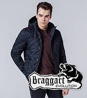 Braggart 1268   Мужская ветровка черно-синяя