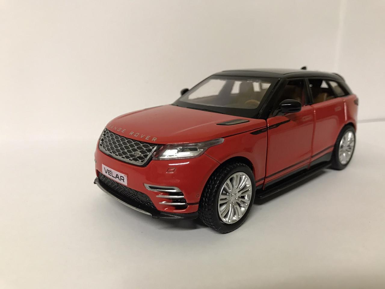 Коллекционная машинка Land Rover Range Rover Velar 1:32 красная