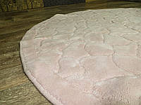 Ковер круглый хлопок. Размер 120Х120. Розовый