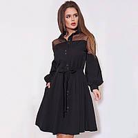 Стильное платье черного цвета 42,44,46,48 р.