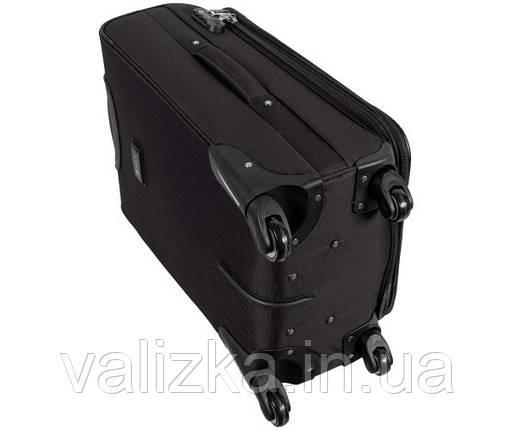 Текстильный чемодан средний Golden Horse на колесиках черный, фото 2