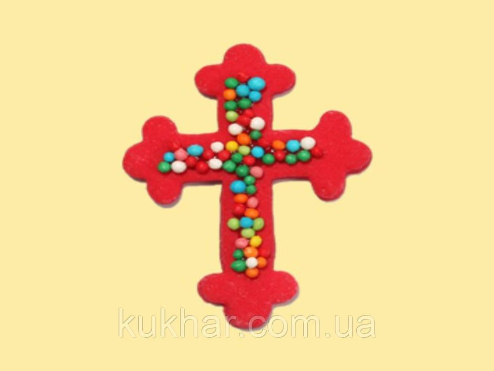 Хрестик з кольоровою посипкою
