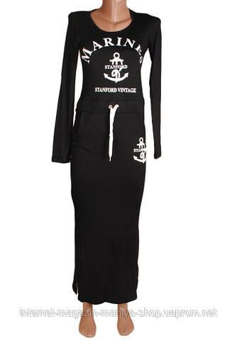 Женское платье с якорям 2 цвета